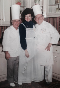 From the Filming of  Cooking with Chris and Goffredo at Lagarde's